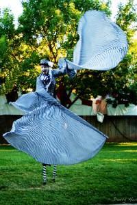 California State Fair 2012, Stephen Hues with Stilt Circus, Sacramento; photo by Doug Hurley.
