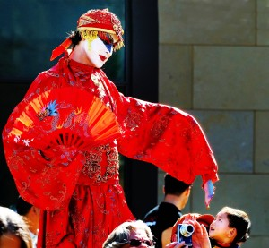 Chinese New Year 2013, The Year of the Snake, Huntington Gardens, Stephen Hues with Stilt Circus, Pasadena, CA.