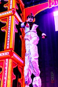 Freak Nights, Stephen Hues with Stilt Circus, Seattle, Washington.