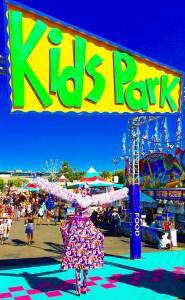 Jack-in-the-Box, Stephen Hues with Stilt Circus, California State Fair 2016, photo by Richard Dalton.