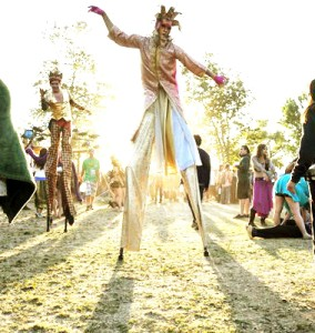 LIB, Stephen Hues and Chico Burner with Stilt Circus, California.