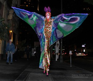 Psychedelic Butterfly, Stephen Hues, Downtown LA; Photo by Eriberto Oriol.