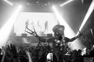 Alien, Stephen Hues, Avalon NYE 2014, Hollywood, CA.