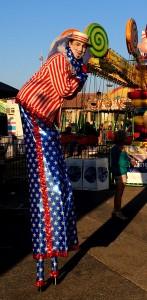 Ventura County Fair 2016, Stephen Hues with Stilt Circus, California.