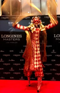 Longines Masters LA Gala 2016, Stephen Hues with Stilt Circus.