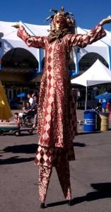 Venetian Masquerade, California State Fair 2012, Stephen Hues with Stilt Circus, Sacramento.