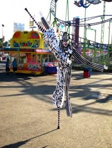 Stephen Hues at the California State Fair with Stilt Circus, Sacramento, CA; Photo by Richard Dalton.